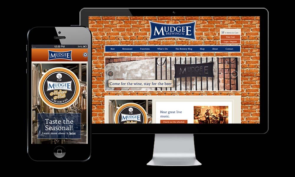 The Mudgee Brewing website is so popular it's usually page one in Google on the search term Mudgee!