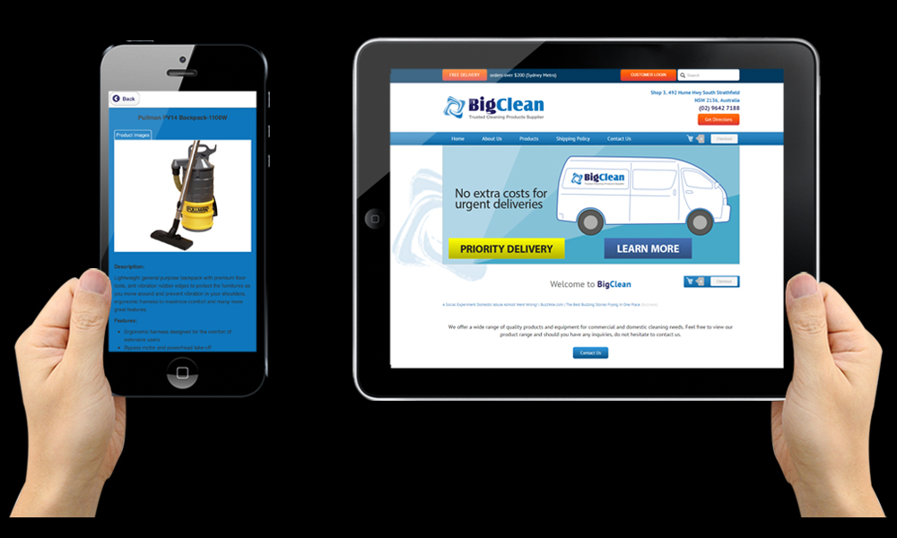 Big Clean really love their recently upgraded website...and so do we!