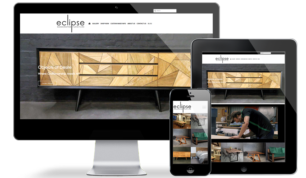 One of Australia's finest timber furniture craftsman deserves to look the part online.