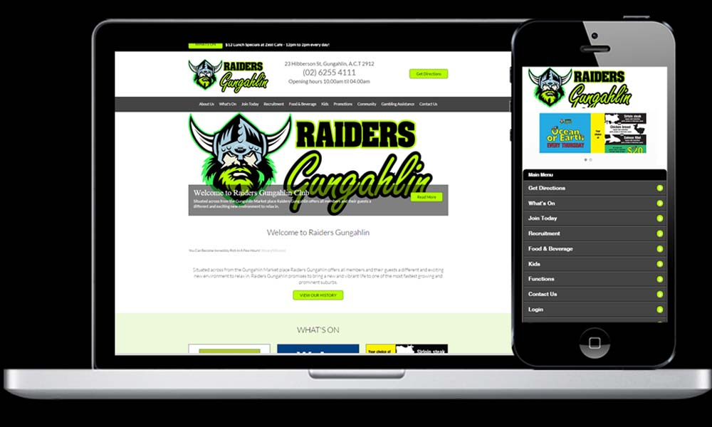 We've been proudly servicing the Raiders Group since 1998. Check out the current generation of websites.