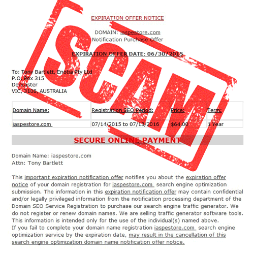 Our 5 Tips to Avoid Domain Name Scams