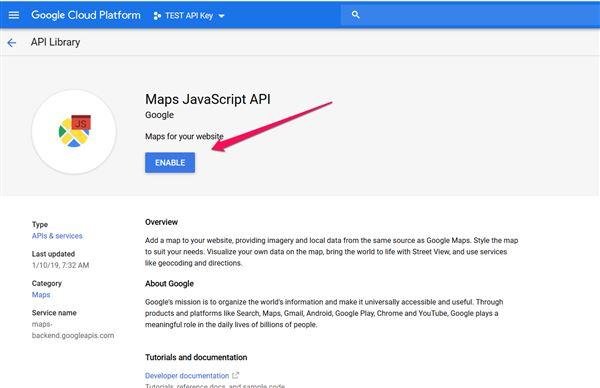 Changes to Google Maps API